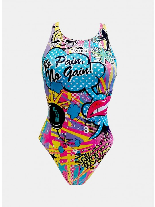 MAILLOT SWIM CRAZY COMIC (BRETELLES LARGES)