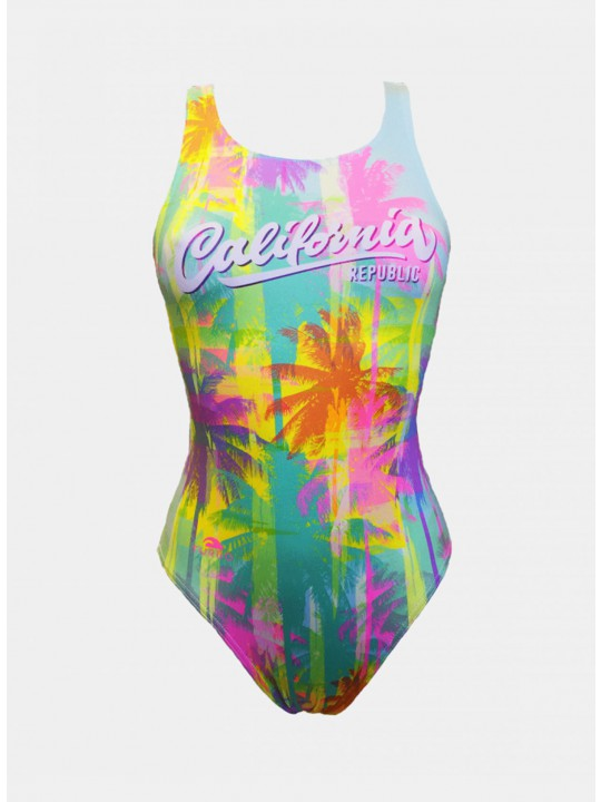 MAILLOT SWIM CALI PALMS (BRETELLES LARGES)