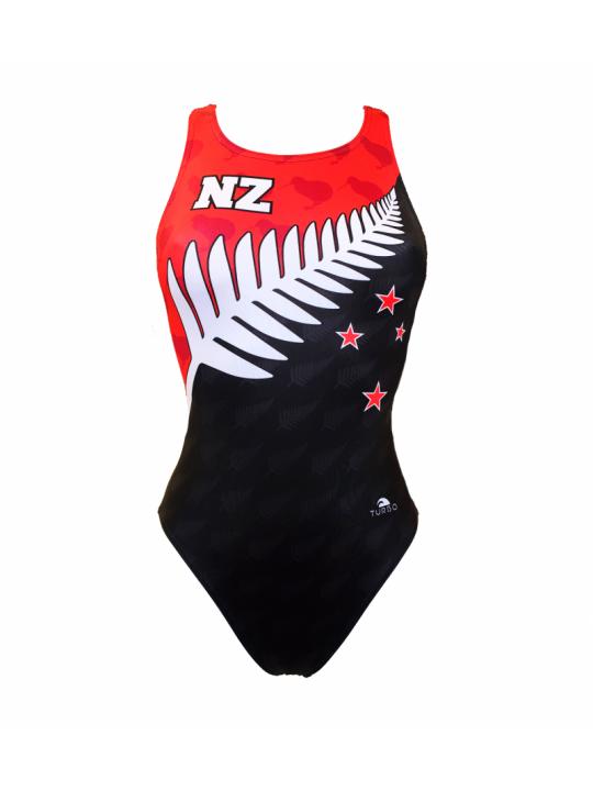 MAILLOT SWIM NZ FLAG (BRETELLES LARGES)